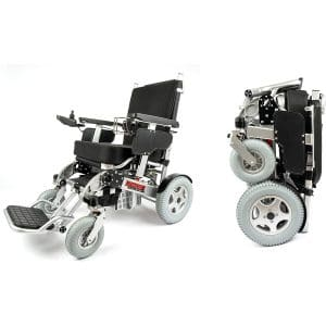 Porto Mobility Ranger Quattro Dual Motor Heavy Duty Foldable Electric Wheelchair (Silver, XL)