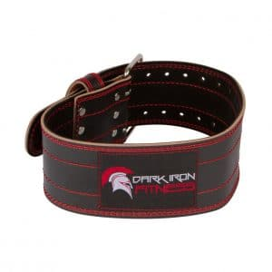Dark Iron Fitness Leather Weight Lifting Belt