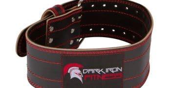 Dark Iron Fitness Leather Weight Lifting Belt