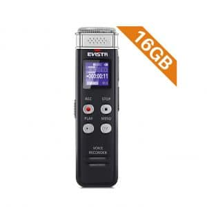 EVISTR 16GB Digital Voice Activated Recorder