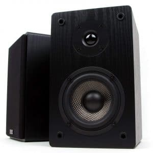 Micca MB42 Bookshelf Speakers with Silk Dome Tweeter