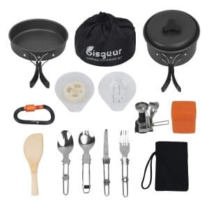 Bisgear 12-17Pcs Camping Cookware