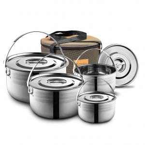 Compact stainless-steel cookware