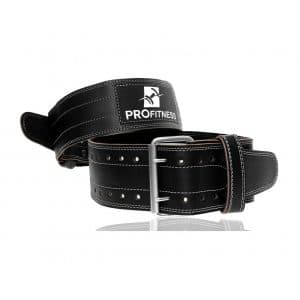 ProFitness Genuine Leather Weightlifting Belt (4 Inches Wide)