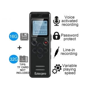aiworth- 16GB Lectures Digital Voice Activated Recorder