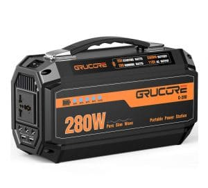 Grucore 280W Portable Power Station Generator