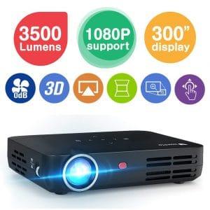 WOWOTO H8 Mini Projector (3500 Lumens)
