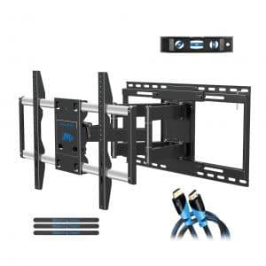 Full Motion TV Mount with TV Centering Design