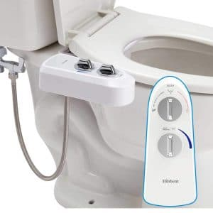 Hibbent Bidet Attachment Self Clean Dual Nozzles