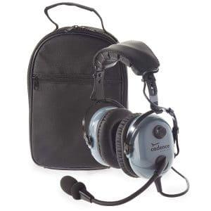Cadence CA501 Premium Pilot Aviation Headset - Stealth Gray