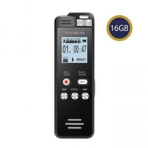 TOOBOM 16GB Digital Voice Activated Recorder Playback