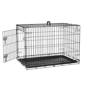 AmazonBasics Double Door and Single Door Folding Dog Crate