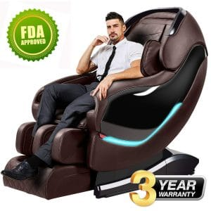 OOTORI Massage Recliner Chair with Stretched Tapping Mode (Brown)