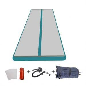 FUNME Inflatable Gymnastics Floor Mat with a Free Pump and Repair Kits