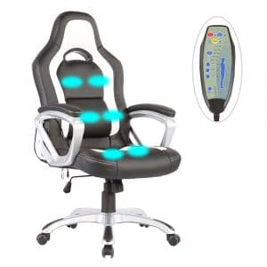 Mecor Massage Chair PU Leather Construction (Black&White)