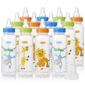 Evenflo Feeding Zoo Bottles for Baby (Pack of 12)