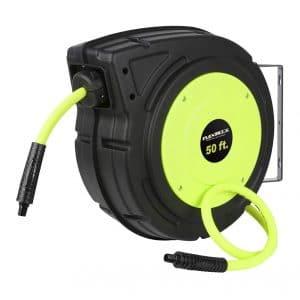 Flexzilla L8250FZ Retractable Enclosed Heavy Duty Plastic Air Hose Reel