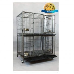 Homey Pet Heavy Duty New 2 Tier Cage Kennel