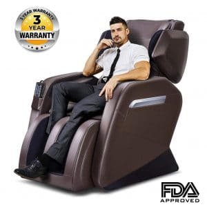 TinyCooper Massage Chair & Foot Roller Brown