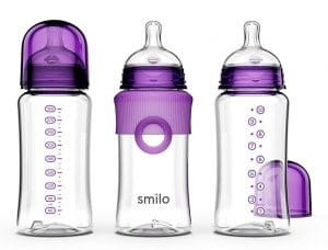 Smilo Anti-Colic Baby Bottles, 3 Count