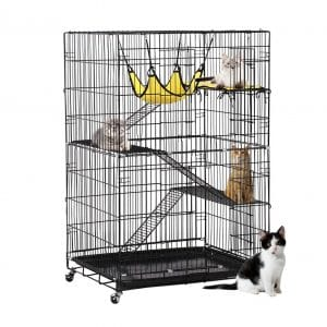 Yaheetech 4-Tier Kitten Cat Playpen Ferret Cage