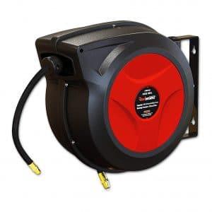 REELWORKS Reel Retractable Air Hose Spring Driven Polypropylene Hybrid Polymer Hose