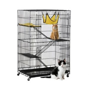 Topeakmart Foldable 4-Tier Kitten Cat Home Cages