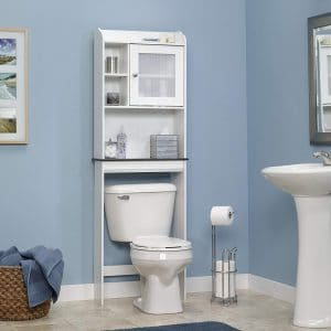 Sauder Caraway Etagere Over the Bathroom Storage