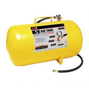 Performance Tool W10005 5-Gallon Hi-viz Horizontal Air Tank