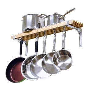 Cooks Standards Wall Mounted Wooden Pot Rack