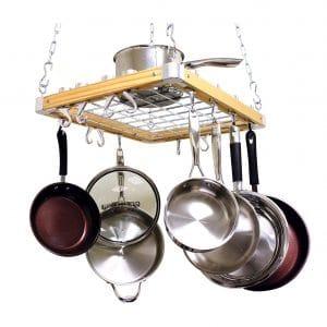 Cooks Standard Ceiling Wooden Pot Rack