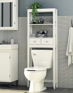 Spirich Home Modern X-Frame Over the Toilet Storage
