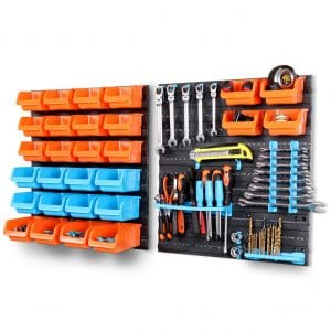 HORUSDY Garage Storage System 44-Piece Racks Peg Board