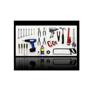 Peg USA WallPeg Organize Tools Pegboard Panels Workbench Kit