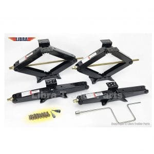 Libra Set Heavy Duty Trailer Stabilizer Scissors Jack