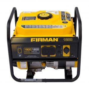 1. Firman 1500/1200 Watt Recoil Gas Portable Generator