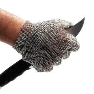 Schwer Stainless Steel Metal Mesh Cut Resistant Gloves