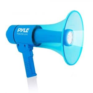 Pyle Waterproof Megaphone Bullhorn with Flashlight