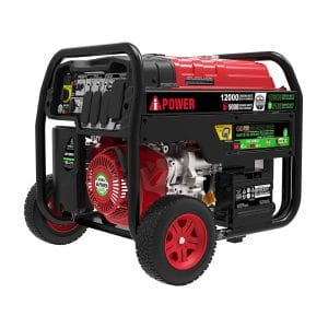 4. A-iPower 12,000 Watts Dual Fuel Portable Generator