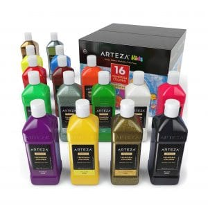 ARTEZA Tempera Paint Set for Kids