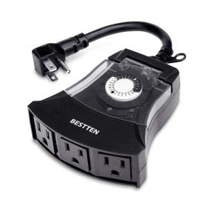 BESTTEN Outdoor 24-Hour Timer Outlet Plug
