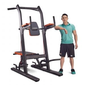 10. HARISON Power Tower with Bench Home Gym Equipment for Strength Training Workout