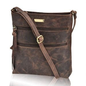 3. ESTALON Leather Crossbody Purse