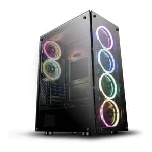 3. darkFlash Phantom Black ATX Tower Case