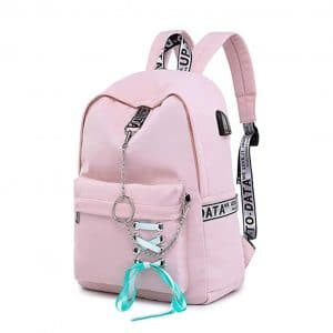 5. SAMAZ Teen Girl School Backpack USB Backpack