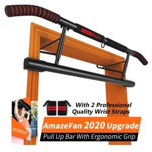 9. AmazeFan Pull Up Bar with Ergonomic Grip - No Installation Needed