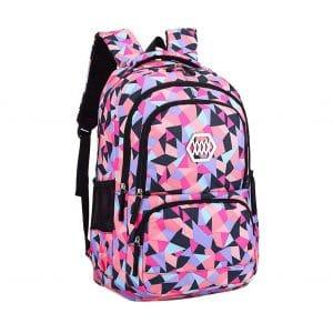 9. Bansusu Geometric Prints Backpack for Girls