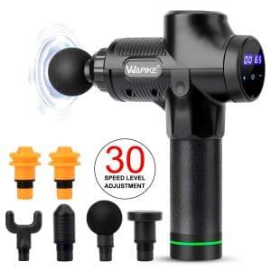 5. WAPIKE Handheld Massage Gun with Thirty Adjustable Speed Levels (Black)