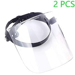 Risunpet 2 Pcs Safety Protective Face Shields