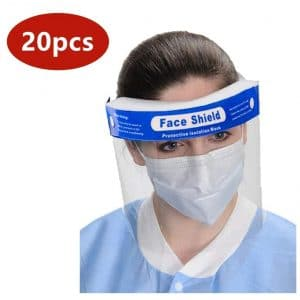 Peakwill 20-Pieces Full Face Shield Adjustable Band 20 Pieces